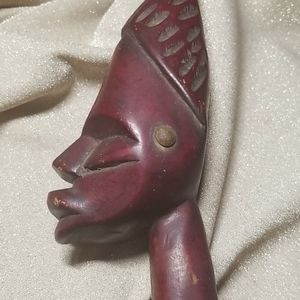 Accents - Hand carved solid wood tribal art
